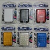 36 Units of Aluminum Wallet-Solid Color