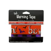 144 Units of Foil Halloween Warning Tape