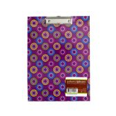 72 Units of Pattern Clipboard with Steel-Chrome Plated Clip - Clipboards and Binders