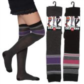 60 Units of VWomen's Over the Knee Socks - Womens Knee Highs