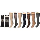 120 Units of Women's Textured Trouser Socks - Womens Knee Highs