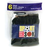 180 Units of Boy's Tube Socks Size 4-6 - Boys Ankle Sock
