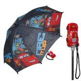 12 Units of Disney Cars Boy's Umbrella with 3D Molded Handle - Umbrella
