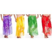 12 Units of Chiffon Tie Dye Skirt Adjustable Waist Tie - Womens Skirts
