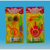 144 Units of BUBBLE FUN SET IN BLISTER CARD 3 ASST - Bubbles