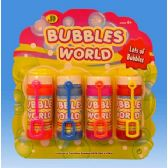 108 Units of 4pcs Bubble fun set in blister card - Bubbles