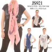 24 Units of LADIES FASHION SCARF ASST COLORS - Womens Fashion Scarves