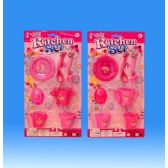 72 Units of Kitchen set in blister card - Girls Toys