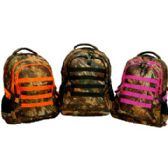 "12 Units of Hunting Backpack-Pink Trim - Backpacks 18"" or Larger"