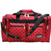 "24 Units of . ""E-Z tote"" 20"" Polka Dots-Red W/Black - Duffel Bags"