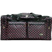 "12 Units of ""E-Z Tote"" 30"" Black with Pink Polka Dots Duffel Bag - Duffel Bags"