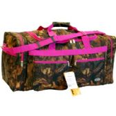 "12 Units of ""E-Z Tote"" 30"" real tree & leaves print Pink trim - Duffel Bags"