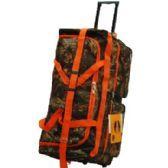 "8 Units of ""E-Z Roll"" 30"" Hunting Rolling Duffel Orange Trim - Travel & Luggage Items"