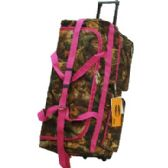 "8 Units of ""E-Z Roll"" 30"" Hunting Rolling Duffle Pink Trim - Travel"