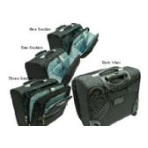 "4 Units of ""E-Z Roll"" High-class ballistic Nylon Computer Case - Travel"