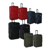 "4 Units of ""E-Z Roll"" 2pc set Luggage-Blue - Travel"