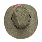 48 Units of Men's Straw Cowboy Hat - Cowboy & Boonie Hat