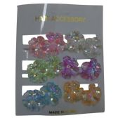 144 Units of FLOWER HAIR CLIPS - Hair Fancy Clips