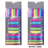 72 Units of HAIR 85PC BOBBY PIN 3 SIEZES MULTI COLOR - Boby Pins
