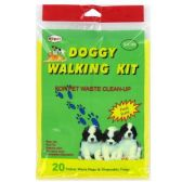 96 Units of 20 PC DOG WALKING WASTE CLEAN UP KIT DOGGY DO-DO CLEAN UP KIT
