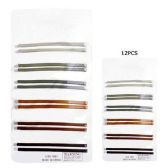 72 Units of HAIR 12PC METALLIC JUMBO BOBBY PINS MATT - Boby Pins