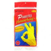 72 Units of PAMITEX HOUSEHOLD GLOVES IN POLYBAG MEDIUM - Latex Gloves