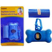 144 Units of DOG WASTER CANISTER KEYCHAIN 3 INCH HIGH, 20 BAGS
