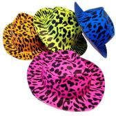 72 Units of SAFARI PRINT PARTY HAT 4 PRINTS CLASSIC HAT ADULT SIZE - Costume Accessories