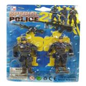 216 Units of 2PC POLICE ACTION FIGURES 2 POLICE ACTION FIGURES