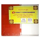 72 Units of ARTS AND CRAFT CONTAINER BOX ASSORTED COLORS - CRAFT CONTAINERS   BOXES