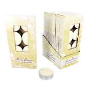 96 Units of 8 PC TEA LIGHT CANDLES LINEN BREEZE