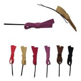 240 Units of HAIR METAL BOBBY PIN WITH SUEDE BOW 6  ASSORTED COLORS - Boby Pins