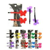 72 Units of HAIR 2PC LG METAL BOBBY PINS COLORFUL 10 ASST COLORS - Boby Pins