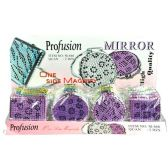 480 Units of ONE SIDED MAGNIFY MIRROR PURPLE LEOPARD PRINT - Mirrors