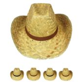 7b390667e57 BESTSELLER 36 Units of Adult Straw Cowboy Hat Assorted Ribbon - Cowboy   Boonie  Hat