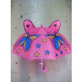 24 Units of Kids Butterfuly Print Umbrella - Umbrella