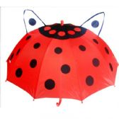 24 Units of Kids LadyBug Print Umbrella - Umbrella