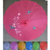 36 Units of Chinese Umbrella Assorted Colors - Umbrellas & Rain Gear
