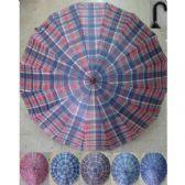 36 Units of Checkered Folding Umbrella - Umbrella