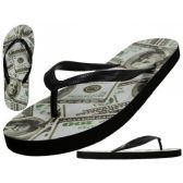48 Units of Women's US Dollars Print Flip Flops