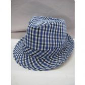 36 Units of Fashion Fedora Hat Stripped Blue Color Only