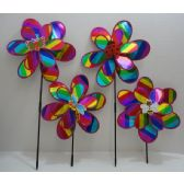"120 Units of 14"" Double Wind Spinner-Rainbow Sparkle - Wind Spinners"