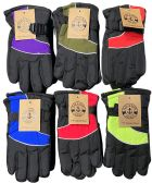 120 Units of Kids Ski Gloves, Assorted Colors - Ski Gloves