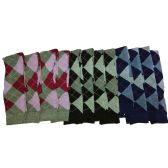 120 Units of Over the Knee Argyle Socks - Womens Knee Highs