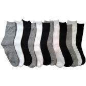 12 Units of Women's Basic Crew Socks