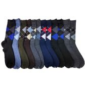 120 Units of Mens Argyle Dress Socks