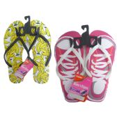 72 Units of Woman Assorted Printed Flip Flops