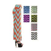 96 Units of Women's Long Zig Zag Print Skirt in Assorted Colors - Womens Skirts