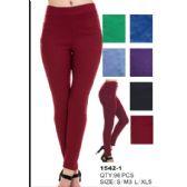24 Units of Womens Fashion Pants Assorted Colors - Womens Capri Pants