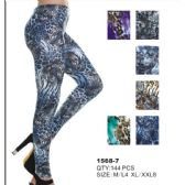 36 Units of Womens Fashion Leggings Assorted Colors Sizes Small, Medium - Womens Leggings